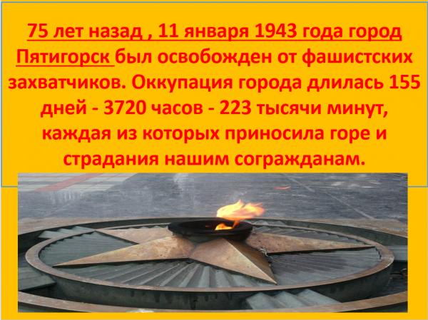 Освобождение Пятигорска